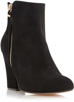 Dune London ORLA - BLACK Zip Detail Heeled Ankle Boot