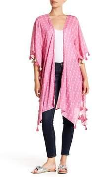 Caslon Print Tassel Trim Kimono
