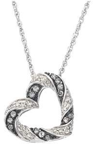 Armani Exchange Jewelry Diamond Heart Pendant In Sterling Silver (0.25 Carats).