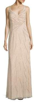 Aidan Mattox Sleeveless Beaded Gown