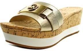 Michael Kors Michael Warren Platform Women US 8 Gold Platform Sandal