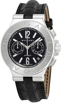 Bvlgari Diagono Black Dial Men's Chronograph Watch
