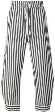 Damir Doma striped wide leg trousers