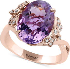Effy Viola by Pink Amethyst (5-9/10 ct. t.w.) and Diamond (1/10 c.t.t.w.) Ring in 14k Rose Gold