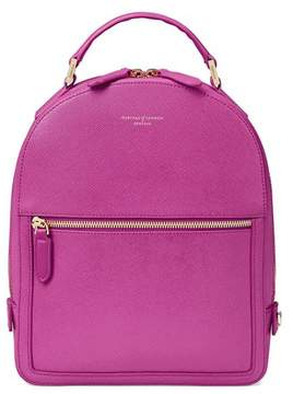 Aspinal of London | Small Mount Street Backpack In Orchid Saffiano | Orchid saffiano