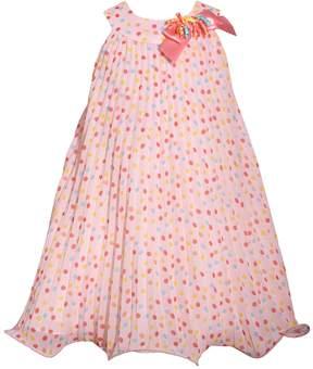 Bonnie Jean Girls 4-6x Dot Chiffon U-Neck Dress