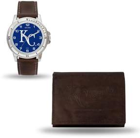 Rico MLB Team Logo Watch and Wallet Combo Gift Set in Brown - Royals