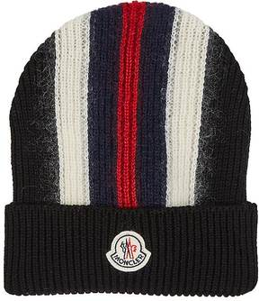 Moncler Men's Striped Rib-Knit Wool-Blend Beanie