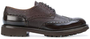Doucal's two tone textured brogues