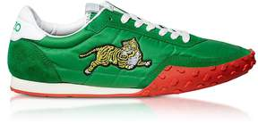 Kenzo Memento Green Nylon and Suede Move Women's Sneakers