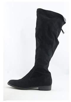 Unisa Womens Subrina Fabric Almond Toe Knee High Fashion Boots.