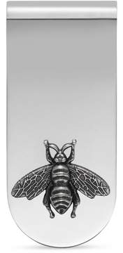 Gucci Money clip with bee in silver