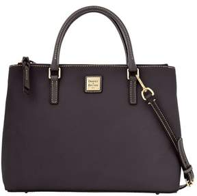 Dooney & Bourke Pebble Grain Willa Zip Satchel - BLACK BLACK - STYLE