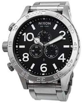 Nixon Men's 51-30 Chrono A083000 Silver Stainless-Steel Analog Quartz Watch