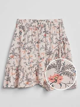 Gap Floral Ruffle Skirt