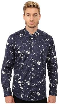 7 Diamonds Midnight Blossom Top Men's Long Sleeve Button Up