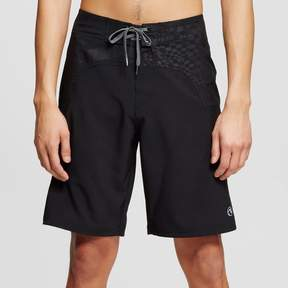 Ocean Current Men's Black Geo Board Shorts Black