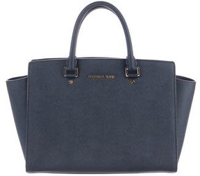 MICHAEL Michael Kors Selma Leather Tote - BLUE - STYLE
