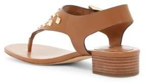 Michael Kors MICHAEL Womens Valencia Thong Leather Open Toe Acorn