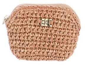 Dolce & Gabbana Woven Wristlet Pouch w/ Tags - NEUTRALS - STYLE