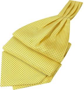 Forzieri Mini Polkadot Yellow Silk Ascot