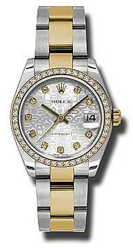 Rolex Datejust Lady 31 Silver Dial Stainless Steel and 18K Yellow Gold Oyster Bracelet Automatic Watch