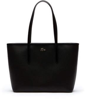 Lacoste Women's Chantaco Zippered Piqu Leather Tote Bag