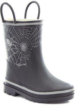 Western Chief Black & Silver Spiderweb Rain Boot