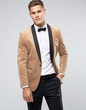 Farah Smart Skinny Velvet Tuxedo Blazer