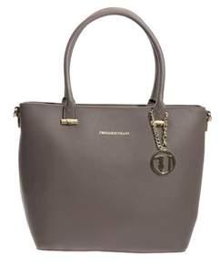 Trussardi Women's Grey Polyurethane Handbag.
