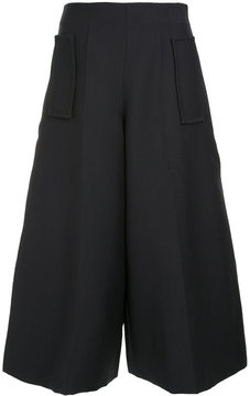 DELPOZO wide leg cropped pants