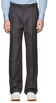 Gosha Rubchinskiy Men's Pinstriped Wool Pleated-Front Trousers