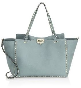 VALENTINO GARAVANI Medium Rockstud Leather Tote