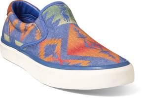 Ralph Lauren Thompson Print Twill Sneaker