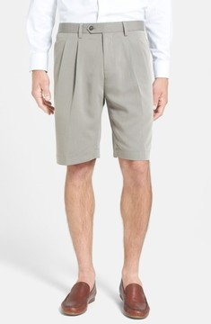 Cutter & Buck Men's Double Pleated Microfiber Twill Shorts