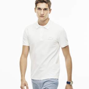 Lacoste Men's Slim Fit Rubber Crocodile Stretch Piqu Polo Shirt