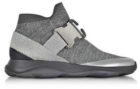 Christopher Kane Women's Grey Fabric Slip On Sneakers.
