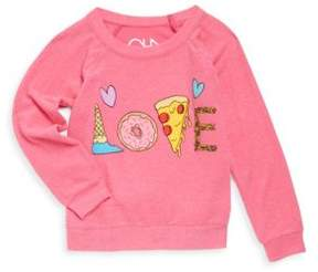 Chaser Little Girl's & Girl's Yummy Love Knit Pullover