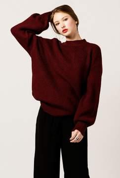 Azalea Knitted Balloon Sleeve Sweater