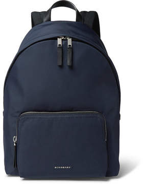 Burberry Leather-Trimmed Nylon Backpack