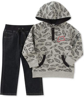 Kids Headquarters 2-Pc. Car-Print Hoodie & Jeans Set, Toddler Boys (2T-5T)