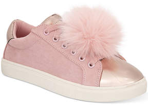 Material Girl Zelda Pom Pom Sneakers, Created for Macy's Women's Shoes