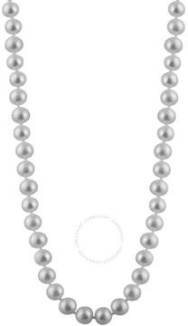 Bella Pearl Single Strand Grey Freshwater Pearl 24 Necklace