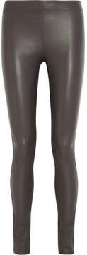 Joseph Stretch-leather Leggings - Gray