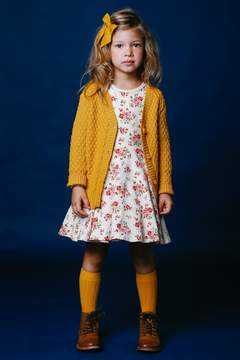 Rock Your Baby Mustard Yellow Cardigan