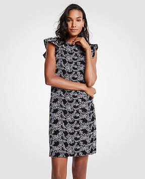 Ann Taylor Tall Contrast Lace Shift Dress
