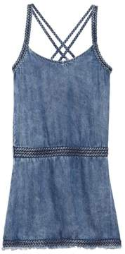 Tractr Braided Chambray Dress