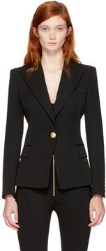 Balmain Black Classic Single-Button Blazer