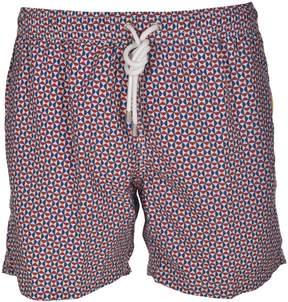 Hartford Geometric Print Swim Shorts