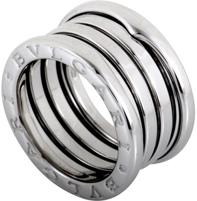 Bulgari Women's B.Zero1 18K White Gold 3-Band Ring